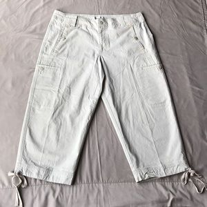 Coldwater Creek  Cream Jean Capri  Sz  14